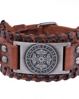 Thor Hammer Cuff Wide Leather Bracelets