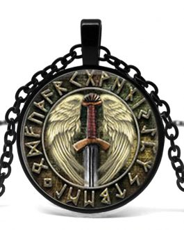 Valkyrie Viking Pendant Jewelry Glass Cabochon Necklace