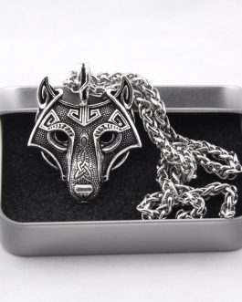 Norse Vikings Pendant Necklace Norse Wolf