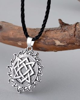 Viking Solar Amulet Pendant Necklace Nordic
