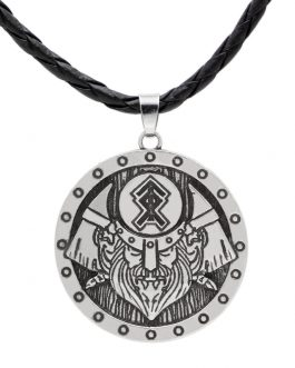 Adogeo  Viking warrior Gods of Ancient Rus pendant Rune Fair Masters Amulet Viking Valknut Pendant Necklace