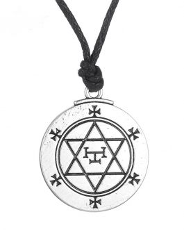 Adogeo LIKGREAT Vintage Religious Exagram Seal of Solomon Pendant Necklace Magical Talisman Star of David Jewerly Amulet Accessories