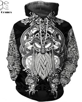 Adogeo Hoodies 3D All Over Printed Viking Tattoo T-shirt/Hoodie costume Unisex Casual Tracksuit streetwear WS-478