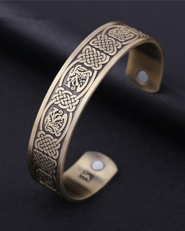 Adogeo Viking Wristband Engrave Dragon Totems Magnetic Bracelets & Bangles Favourable Blood Circulation Health Jewelry