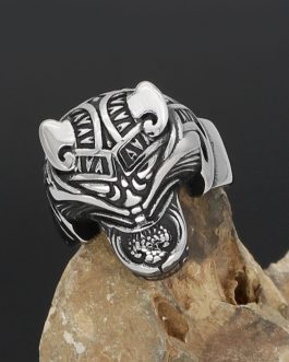 Adogeo Men 316L Stainless Steel Norse Viking Odin's Wolf Rune Vantage Ring With Gift Bag