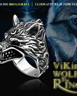 Adogeo 316L Stainless Steel Nose Viking Ring Wolf Headl Animal For Man Unique Price  Jewelry