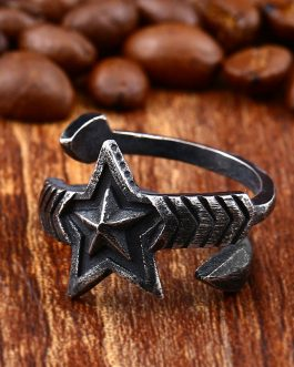 Adogeo 316l Stainless Steel Ring Original Retro Men And Female Pin Open Couples Ring High Quality Fashion Jewelry
