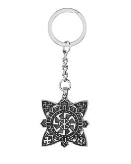 Adogeo 5pc Slavic The Order Of Light Totem Pendant Key Chain Vintage Kolovrat Talisman Best Friend Jewelry