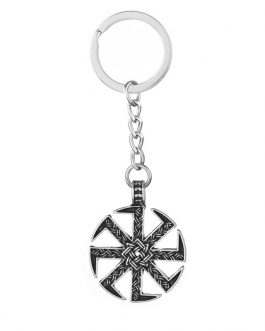 Adogeo 5pcs Slavic Kolovrat Pendant Key Chain Norse Viking Lada Star Talisman Best Friend Jewelry