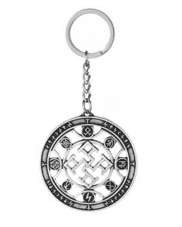 Adogeo 5pcs Slavic Spiritual Strength Pendant Key Chain Nordic Viking Talisman Best Friend Jewelry