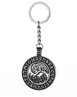 Adogeo 5pcs Ying Yang Tree of Life Key Chain Best Friend Gift Nordic Viking Ethnic Warrior Amulet Jewelry