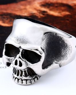 Adogeo 316L Stainless Steel ring Skull biker  Ring silver/gold/black colour Man's fashion jewelry  BR8-323