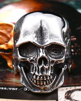 Adogeo 316L Stainless Steel ring  biker Ring Cool Punk Man's Skull Ring Stainless Steel Hapspecial  fashion jewelry  BR8-347