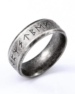 Adogeo 316L Stainless steel Fashion Style MEN and women fashion Odin Norse Viking Amulet Rune words RETRO Rings Jewelry  LR-R133