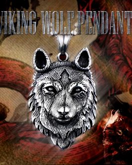 Adogeo 316L Stainless Steel Norse Vikings Pendant Necklace Norse Wolf Head Necklace Original Animal Jewelry Wolf Head Hange