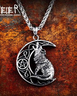 Adogeo 316L Stainless Steel Norse Vikings High Quality Pendant Necklace Norse Wolf Head Original Animal Jewelry LP455