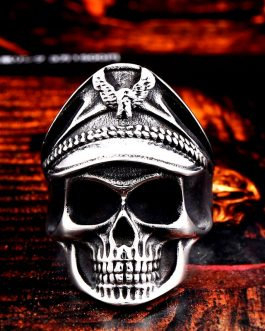 Adogeo 316L stainless steel Soldier Glory Skull Men's Ring Punk Eagle Party High Quality Jewelry