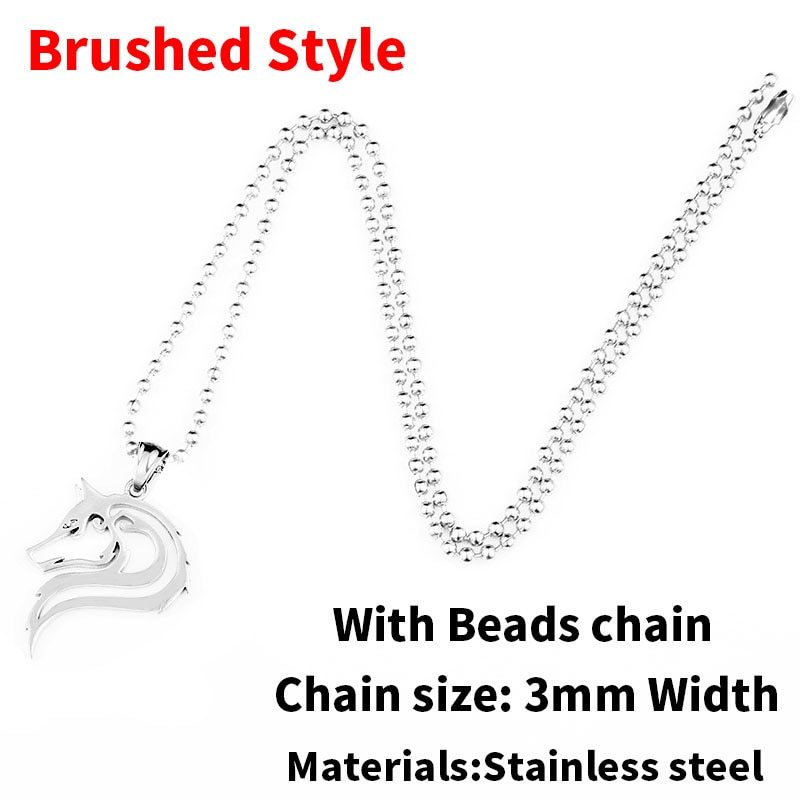 Brushed beads chain