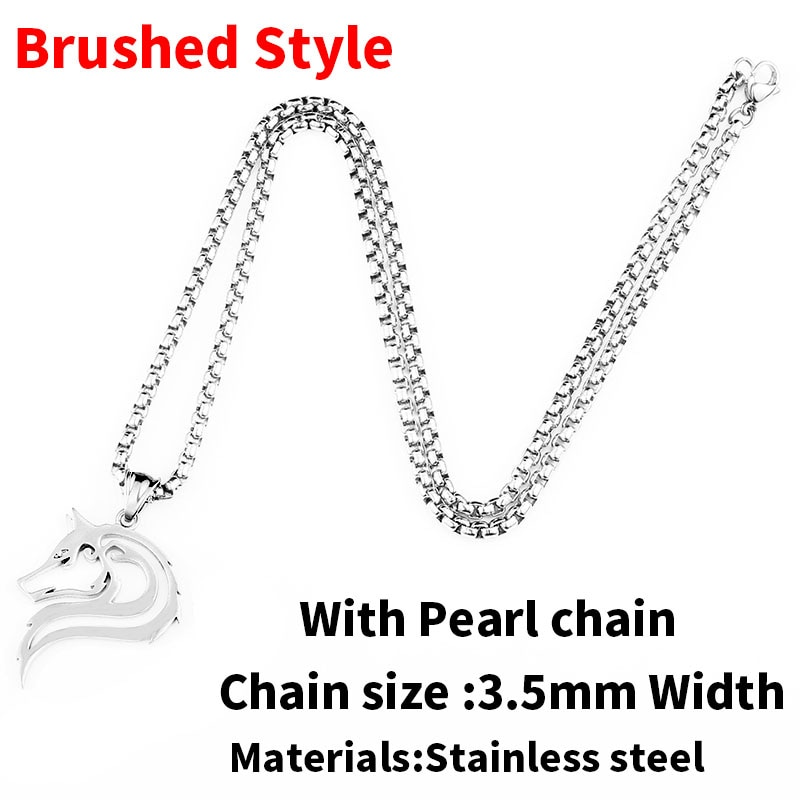 Brushed  pearl chain