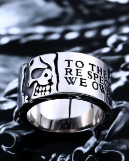 Adogeo 316L Stainless Steel high quality ring man Gothic cool half skull ring for men Fashion jewelry LLBR8-047R