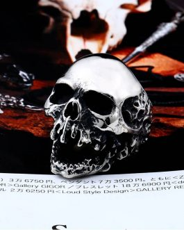 Adogeo 316L Stainless Steel ring high quality skull punk Biker ring for men  fashion jewelry