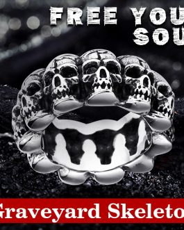 Adogeo 316L Stainless Steel ring top quality punk skull ring vintage domineering skull fashion Jewelry