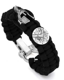 Adogeo Paracord Survival King Cobra Style Bracelet Shackle for Outdoor Size Fit for 7 to 8 Inch Wrists