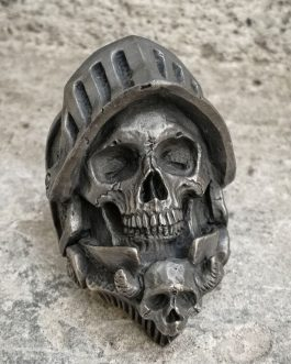 Adogeo Cool Mens Gothic Death Knight 316L Stainless Steel Ring Skull Ring Biker Punk Fasion Jewelry Gift for Men