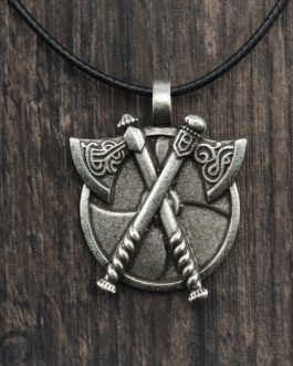 Adogeo 1pc Viking Silver Vintage Axe Pendant Religion Necklace Jewelry For Gift