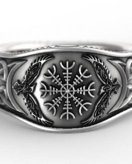 Adogeo 2020 men ring Nordic Mythological Story Viking Compass Silver Ring Luxury Personality Rings for Men Women Trendy Fashion Jewelry