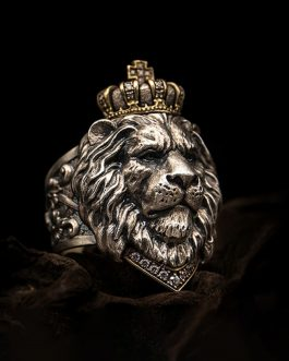 Adogeo Personality Lion King Ring For Men Animal Silver Jewelry Finger Rings Male 7-14 Big Size 2019 New