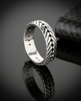Adogeo Hot Sale Ring for Men Male Ancient Silver Chain Retro Style Gothic Viking Eternity Biker Buddha Rings Jewelry Fingdings