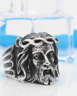 Adogeo 316L Stainless Steel Religious Ring Gold Jesus Punk Men's Rings Male Jewelry Wholesale Gift Alibaba Express Free Shipping