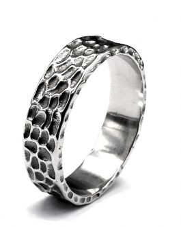 Adogeo 316L Stainless Steel Simple Ring Stainless Steel Honeycomb Ring Geometry Men Jewelry Retro High Quality Jewelry Wholesale