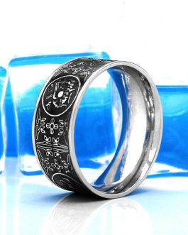 Adogeo New Men Ring Four Beasts Stainless Steel Silver Ring Viking Nordic Raytheon Punk Animal Steel Jewelry Gifts Wholesale 2019