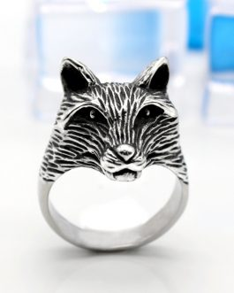 Adogeo Norse Viking Wolf Ring Men Stainless Steel Animal Ring Rings Black Color Punk Rock Personality Men Jewelry Anillo Hombre