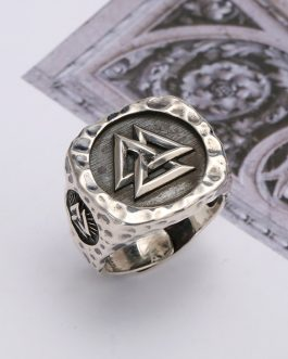 Adogeo Mens Gold and Silver Color Vegvisir Viking Stainless Steel Biker Rings Futhark Runes Vikings Triangle Odin Nordic Jewelry