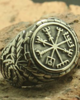 Adogeo New Arrival Men Boy 316L Stainless Cool Newest Viking Silver Ring
