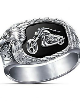 Adogeo New Hip Hop Big Rings For Men Rock Style Viking India Steampumk Silver Color Cowboy Motorcycle Fashion Accessories  F3P797