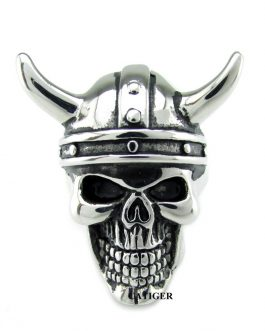 Adogeo Punk 316L Stainless Steel Silver White Viking Skull Head Ring For Man North Myth Ring Jewelry