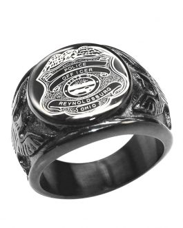 Adogeo Military Ring for men Stainless Steel United StatesMan Signet Rings Fashion Jewelry